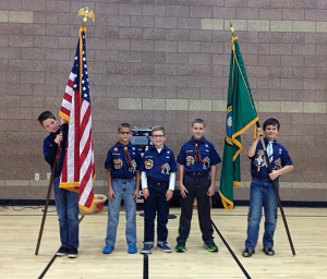 Boy Scouts Posting the Colors 2014