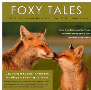 Foxy Tales March 2015