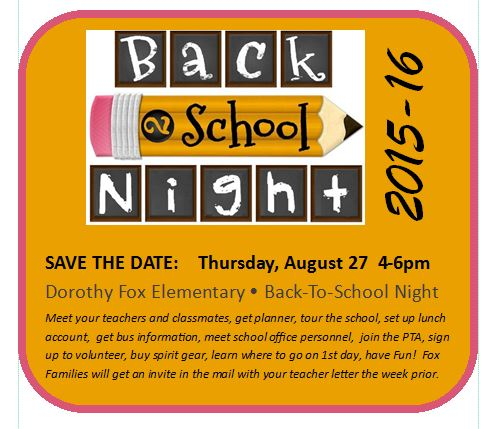 Back-to-School Night 2015-16