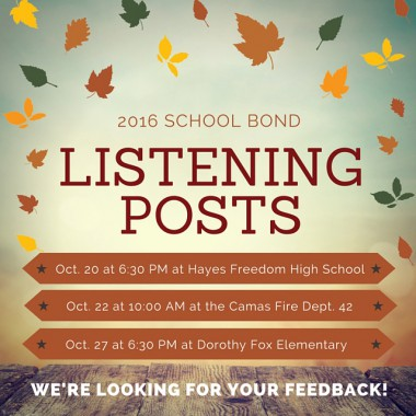 2016 School Bond Listening Posts