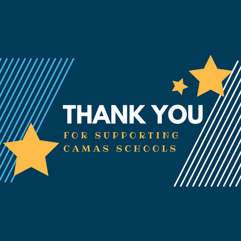 A thank you for supporting schools