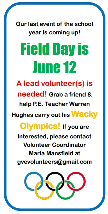Field Day Volunteers Needed Grass Valley Elementary