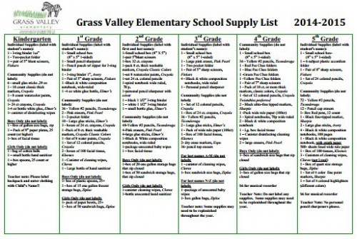 List Of Classroom Furnitures ~ Grass valley elementary