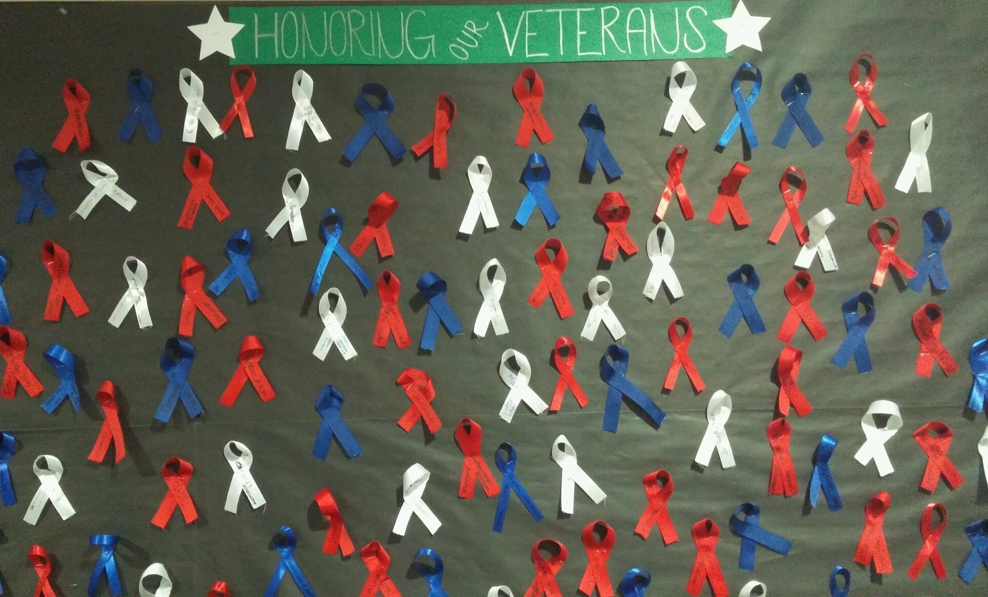 Veterans ribbon board