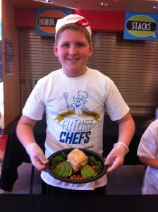 Congratulations To Tristan Curl! Grand Prize Winner with his Grilled Veggie Sandwich. Lacamas is proud of our chef!
