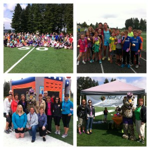 What a great time we had running, walking, bouncing...Thank you Bedont, Camas Produce, Mrs. Moran and all our volunteers! We had a blast!