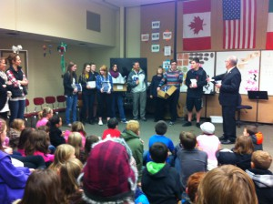 Thank you Camas/Washougal Rotary and Superintendent Mr. Nerland for giving our Lacamas 3rd Graders Dictionaries!