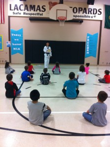 Lacamas students learn character, discipline and perseverance through Taekwondo.