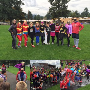 Lacamas Human Carwash...thank you to all our Super Hero's who supported our Sport-a-thon!