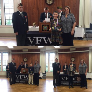 Congratulations Lauren, Sam and Addison! VFW Essay Contest winners.