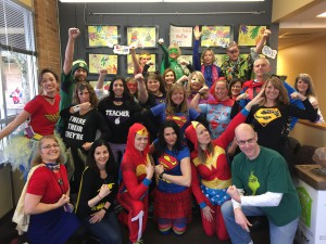Lacamas Super Hero Staff! Just a few of our everyday heros!