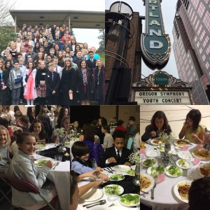 5th grade students had a special day with a field trip to the Portland Orchestra and a formal luncheon. They were respectful ladies and gentlemen...we are proud of their behavior and how they represented Lacamas!