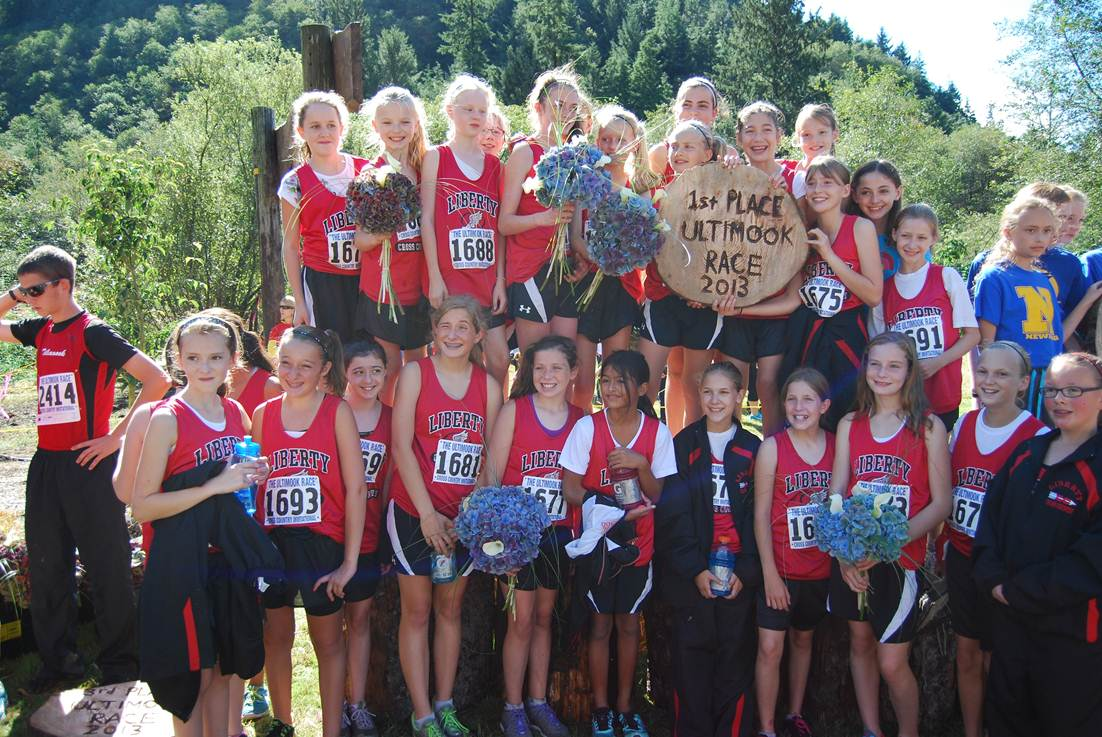 Liberty cross country takes 1st place at ultimook race liberty