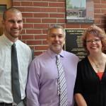 Dean of Students Stephen Baranowski, Principal Marilyn Boerke, Associate Principal Gary Moller