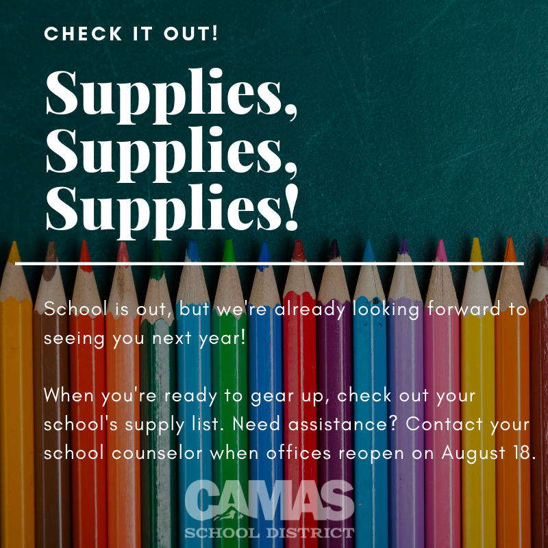 Click here to view the school supply lists.
