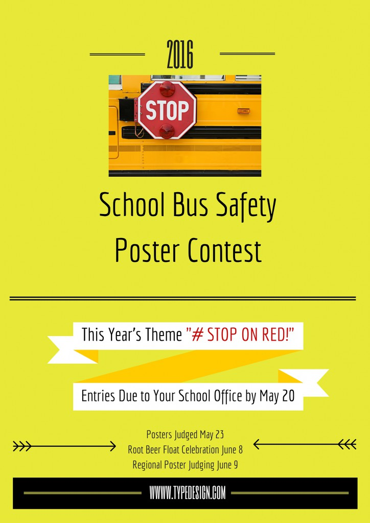School Bus Safety Poster Contest Flyer 2016