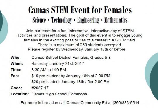 STEM for girls event